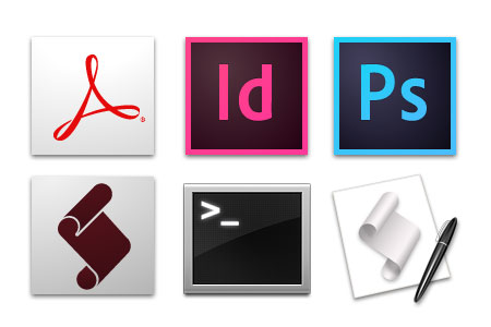 Utbildning i InDesign, Photoshop, Acrobat, ExtendScript/JavaScript, Shell scripting, AppleScript mm.