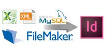 InDesign och databaser, FileMaker, XML, mySQL, databaspublicering