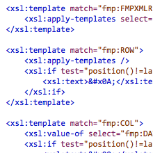XSL for exporting FileMaker records as text, with unix line breaks