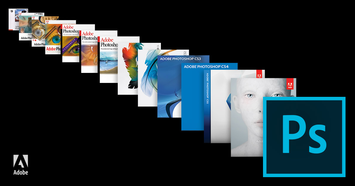 Adobe Photoshop 25 years of boxes