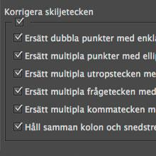 Automatisk textkontroll i InDesign